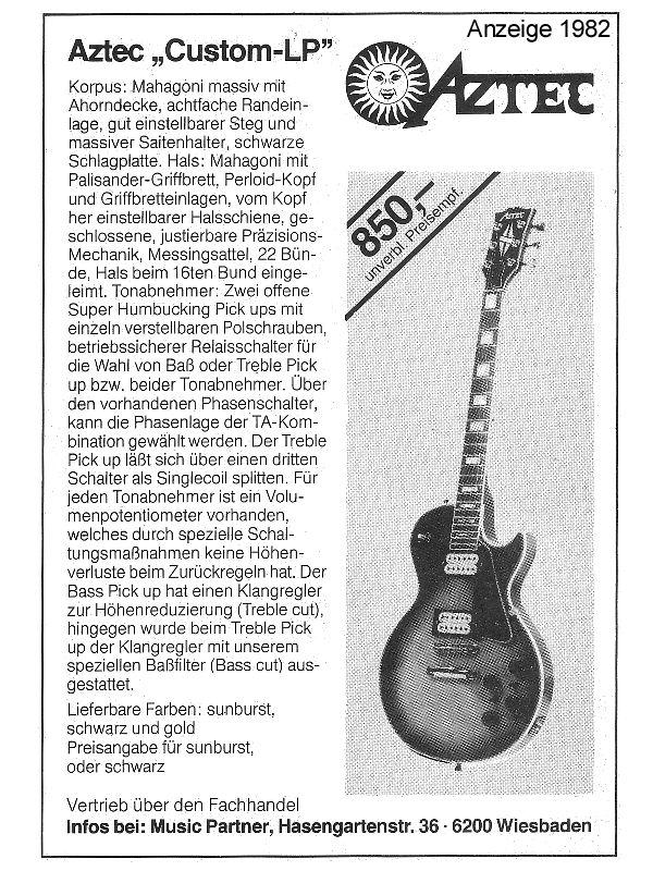 Best Vintage Guitars - Aztec Les Paul Custom